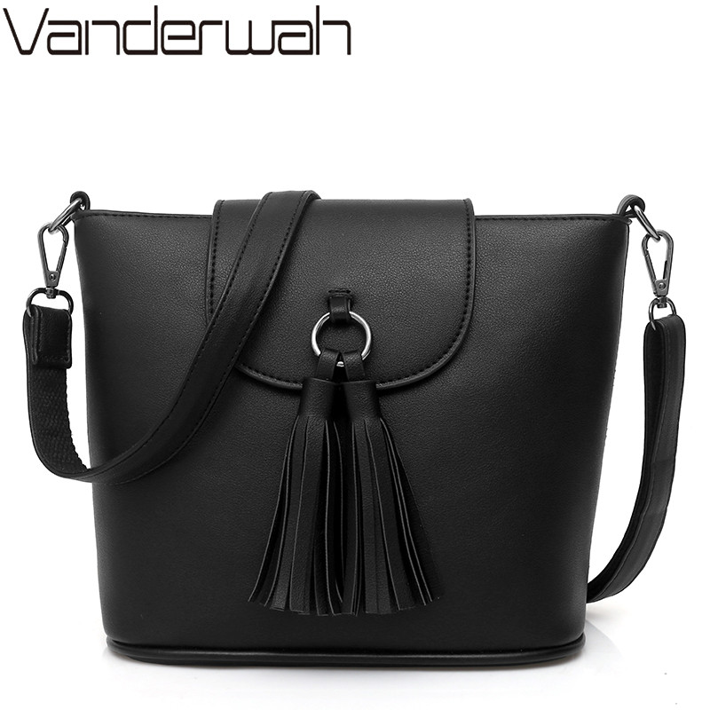 NEW Luxury Handbags Women Bags Designer tassel bucket Women pu Leather bag brand ladies Shoulder crossbody bags Sac a main femme new leather bucket bag handbags women messenger bags fashion designer ladies casual tote bag crossbody bags for women sac a main