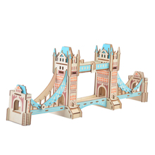 DIY Model toys 3D Wooden Puzzle-Londen Tower Bridge Wooden Kits Puzzle Game Assembling Toys Gift for Kids Adult P34