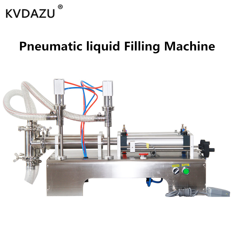 Double Heads Pneumatic Auto Filling Machine Shampoo Gel Water Wine Milk Juice Vinegar Coffee Oil Drink Detergent Perfume Filler