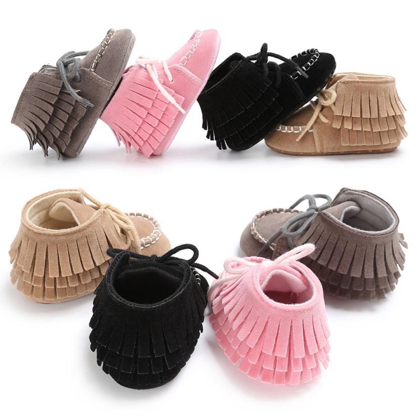 Tassel baby first walkers Baby Newborn Tassel Soft Sole Shoes Boys Girls Anti-Slip Toddler Crib Prewalker Sapatas de bebe menina