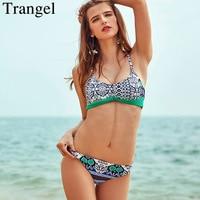 Trangel Push Up Swimwear Sexy Bikinis Women Swimsuit 2017 Print Brazilian Bikini Set Bandeau Summer Beach