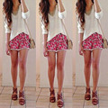 2015 Fashion Hot Women's High Waist Tassel Print Beach Casual Mini Shorts Short Pants