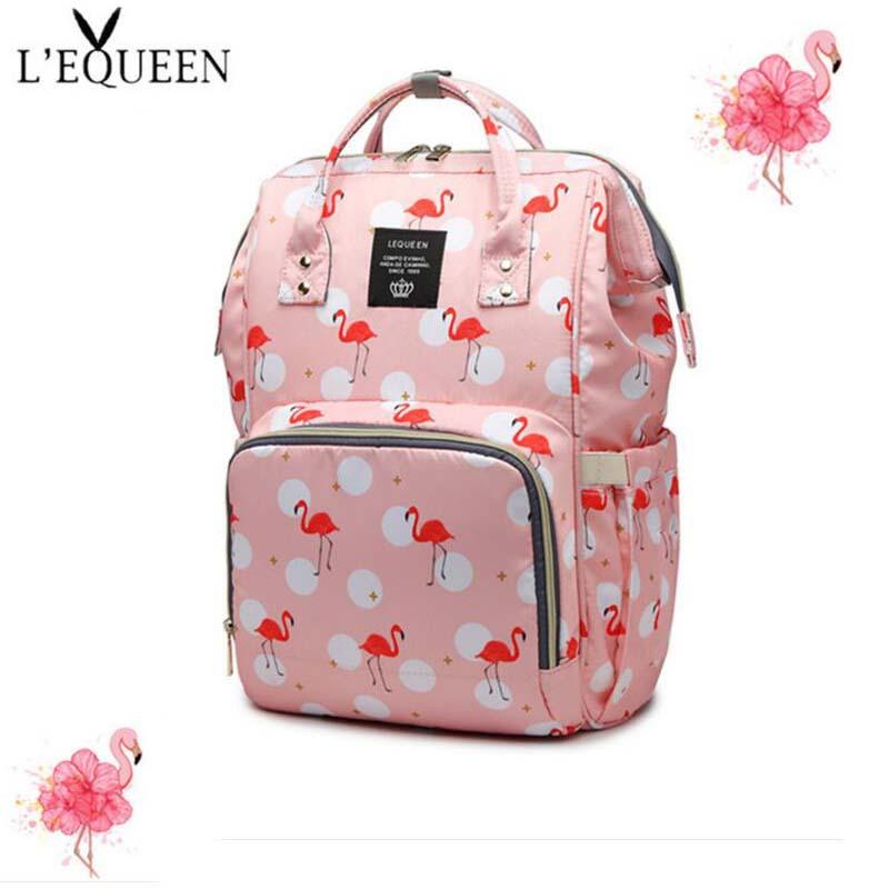 LEQUEEN Brand Shoulder Bag Large Capacity Pregnant Women Care Storage Bag Baby Change Diaper Diaper Bag Fashion Handbag in Diaper Bags from Mother Kids