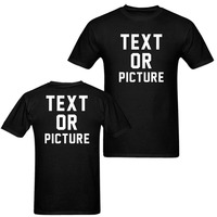 GILDAN Custom Two Side Print Your Own Design Individualization T Shirt Men Personalised Gifts Short Sleeve