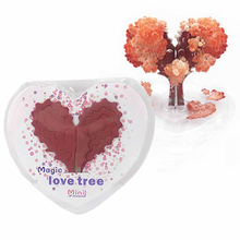 2019 75mm H Red Visual Magic Growing Paper Love Tree Magical Loving Heart Christmas Trees Kids Science Toys For Children Novelty