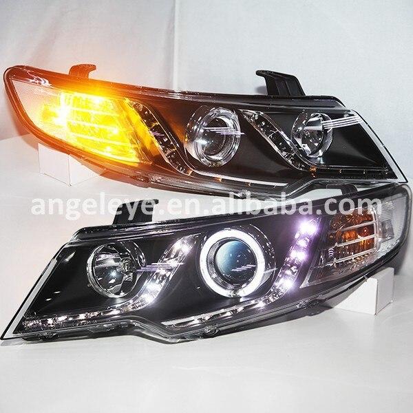 2009 2013 year For KIA Cerato Forte LED Angel Eyes Headlight LD