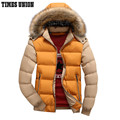 Hooded Design Men Parka Size M-3XL Casual & Fit Men's Winter Jacket Stand Collar Thick Man Down Jacket