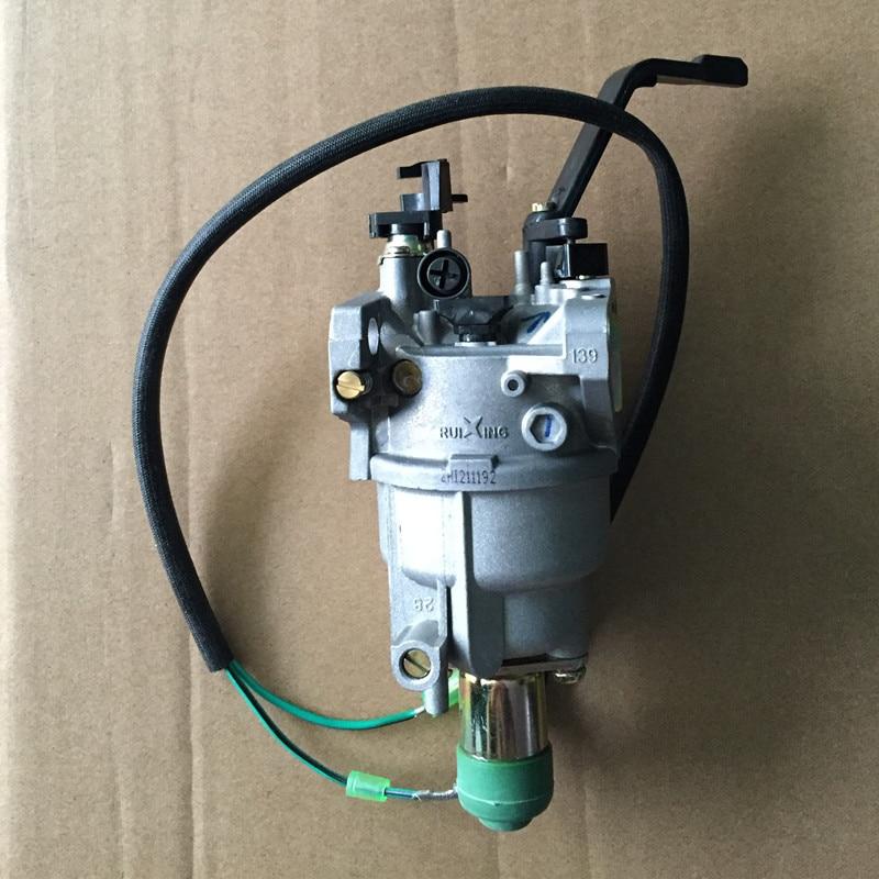 Ruixing Carburetor for GX390 generator engine,5kw GENERATOR CARBURETOR,EC6500 188F 389CC,best brand carburator with MANUAL CHOKE  цены