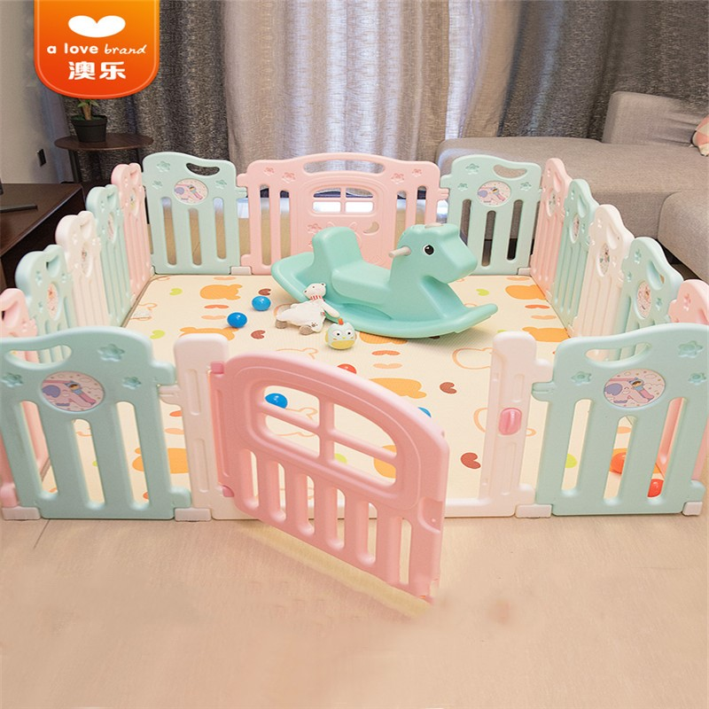 A Love Bbaby Game Fence No Screw Link 61cm High Cartoon Sticker Pattern A Variety Of Specifications Optional Color Game Fence