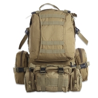 Unisex Men Women Large Capacity 50L Multifunction Molle Camouflage Backpack for Outdoor Sport Climbing Hiking Camping