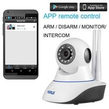 KERUI Wireless WiFi HD IP Camera WiFi GSM Home Intruder Burglar Alarm System Security 720P 3.6mm len GSM Surveillance Device