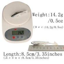 Goture 5 Pieces Fishing Lure Swimbait 8.5cm/13g (3.35in/0.46oz) Sea Bass Killer Lead Jig Head Soft Wobbler Fishing Swim Bait