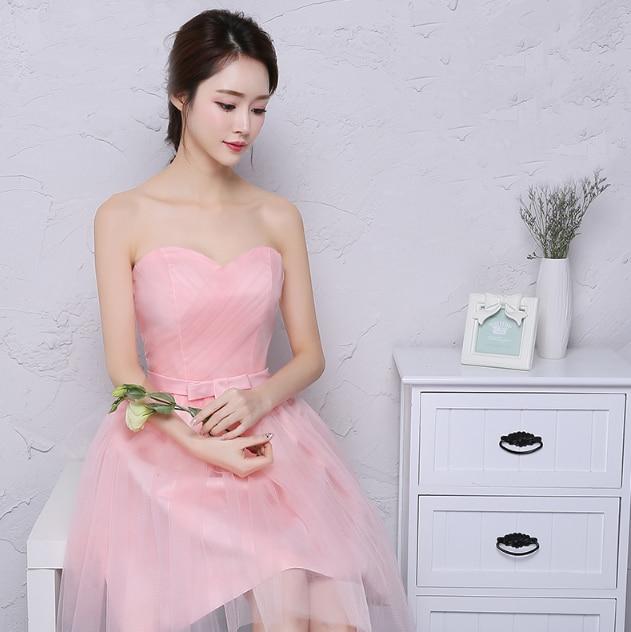elegant light pink bridesmaid party dresses for teens short ...