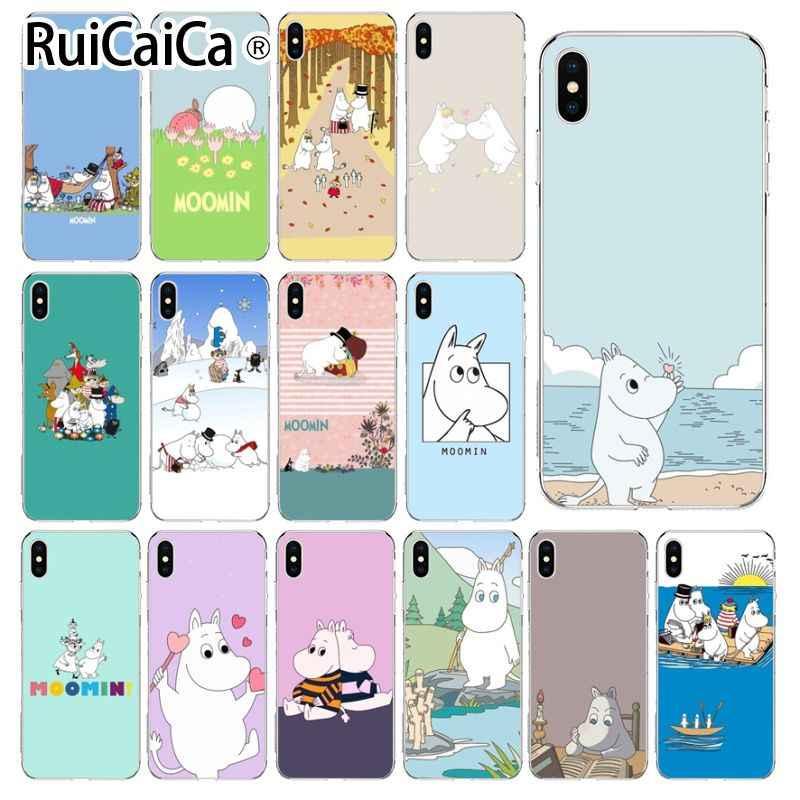 Ruicaica Cute Hippo Moomin Transparent Tpu Soft Phone Case