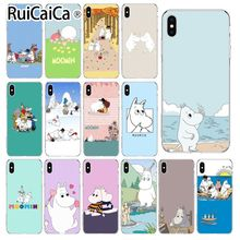 Ruicaica Hippo Moonmin Cute animal cartoon Colorful Phone Accessories Case for iPhone X XS MAX  6 6s 7 7plus 8 8Plus 5 5S SE XR