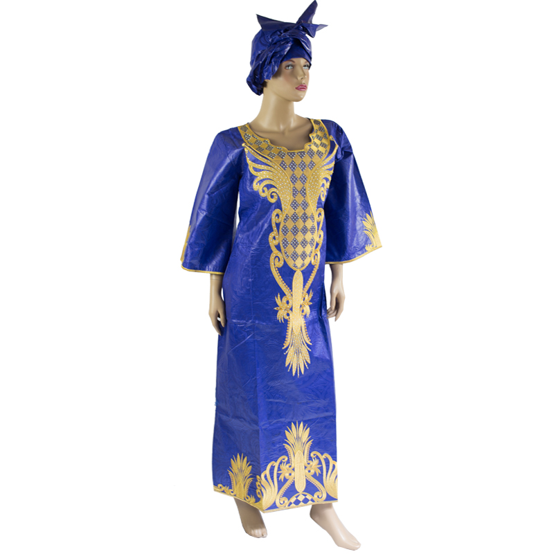 African Dresses mix wax style Cotton Fabric Top Traditional Bazin Riche African Clothing Designs