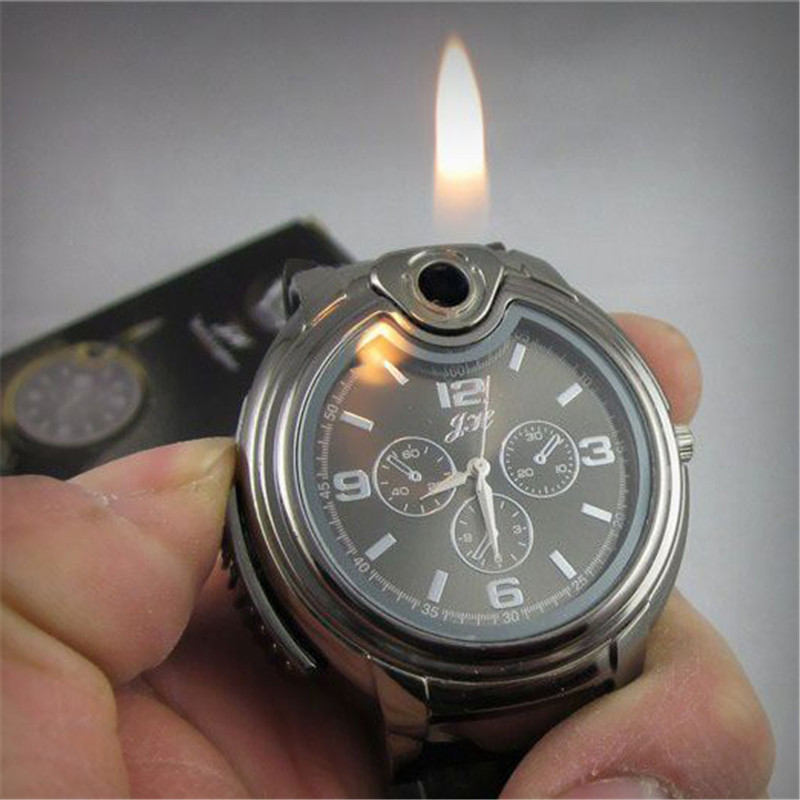 цены Cindiry Military Lighter Watch Novelty Man Quartz Sports Refillable Gas Cigarette Cigar Men Watches Luxury relogio masculino P5
