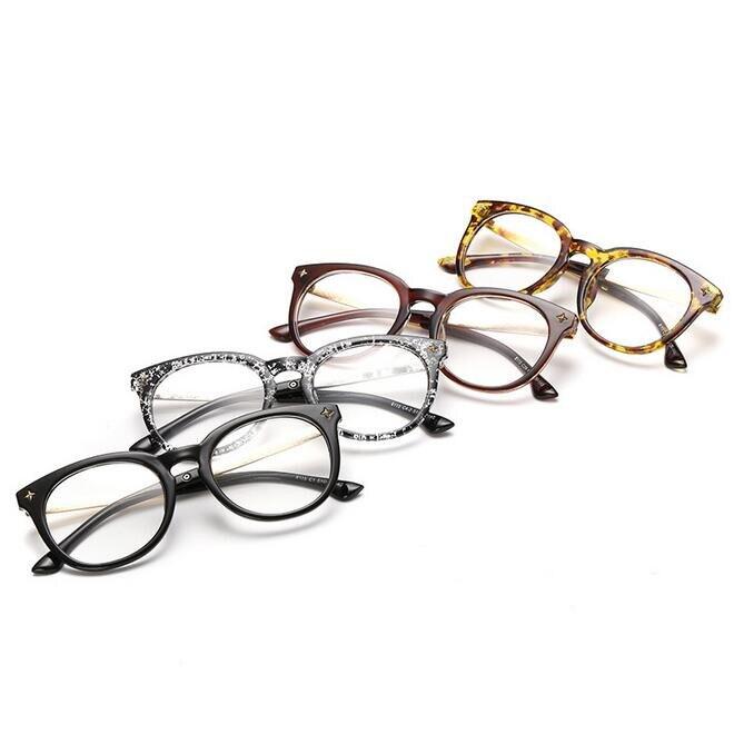 6757fdd3179 Oversized Large Glasses Women s Spectacle Frame Eyeglasses Lunette Ronde  Vintage De Vue Decoration Gafas -in Eyewear Frames from Apparel Accessories  on ...