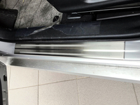 Outer Side Door Sill Plate Threshold Guard Protector Cover 4pcs Steel For Toyota Prius Prime PHV Plug in Hybrid 2017 2018