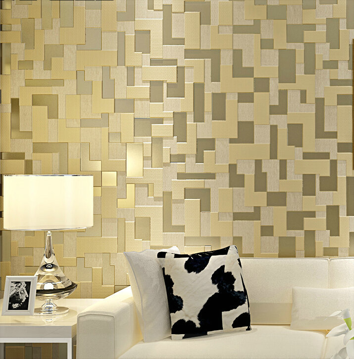 Simple 3d Stereo Bedroom Living Room Tv Setting Wall Wallpaper Woven Mosaic 3d Wall Panels