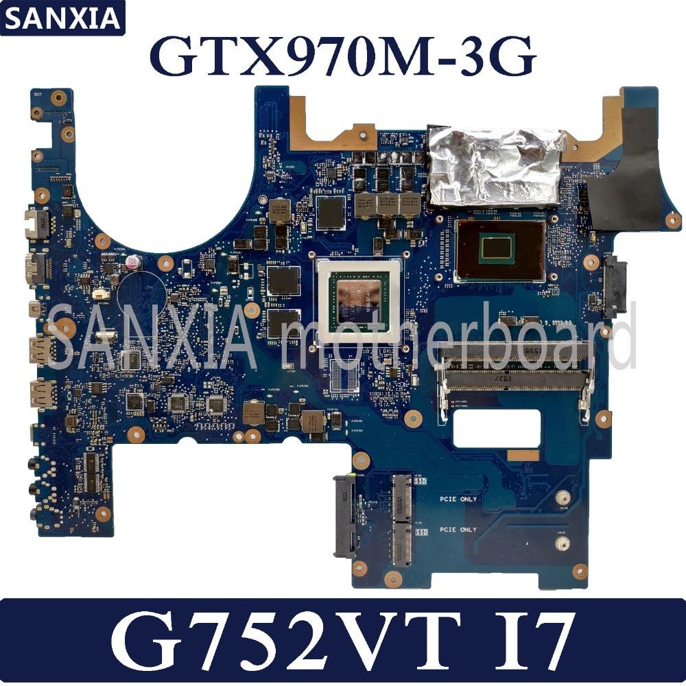 KEFU ROG G752VY Laptop motherboard for ASUS G752VT G752V G752 Test original mainboard I7-6700HQ GTX970M-3G KEFU ROG G752VY Laptop motherboard for ASUS G752VT G752V G752 Test original mainboard I7-6700HQ GTX970M-3G