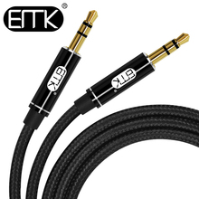 EMK 3.5mm Audio Cable Aux Cable Male to Male 0.5m 1m 2m 3m 3.5mm Cotton braided jack plug audio cable For phone Car Earphone MP4