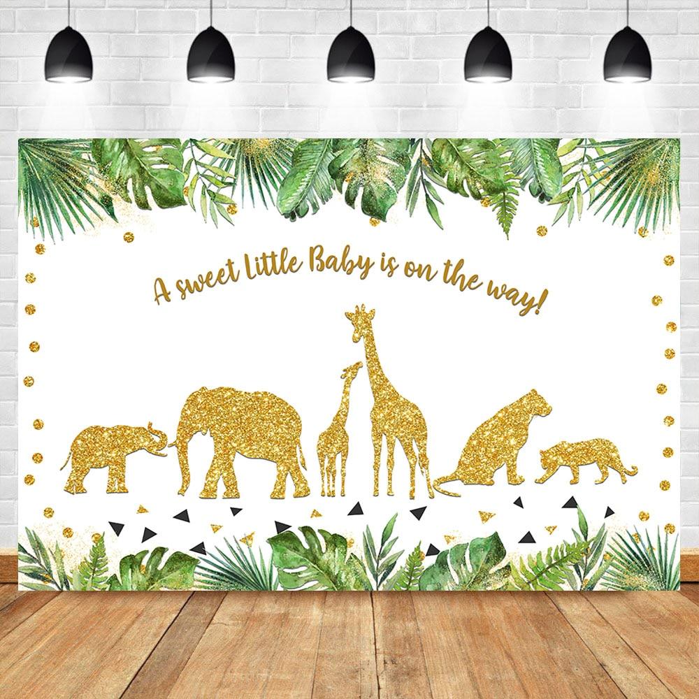 SWEET SAFARI Boy Baby Shower PERSONALIZED GIANT BANNER KIT jungle animals