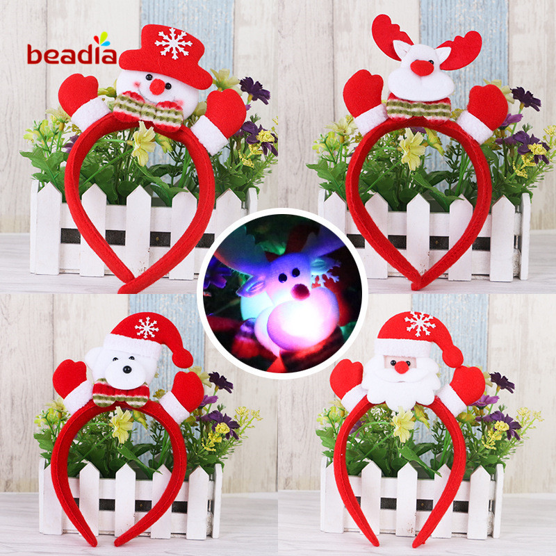 cute christmas party supplies small hands christmas lighted single hoop head buckle christmas decorations christmas gifts in christmas headbands from home