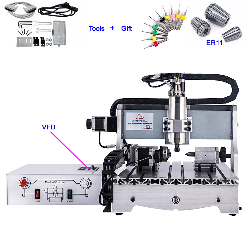 4 Axis 1500W CNC Router 6040 Metal Cutting Engraving Machine4 Axis 1500W CNC Router 6040 Metal Cutting Engraving Machine