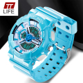 TTLIFE Watch Men Waterproof LED Digital G Style Sports Military Watches Analogic Back Light Rubber Band Wrist Watches for Men