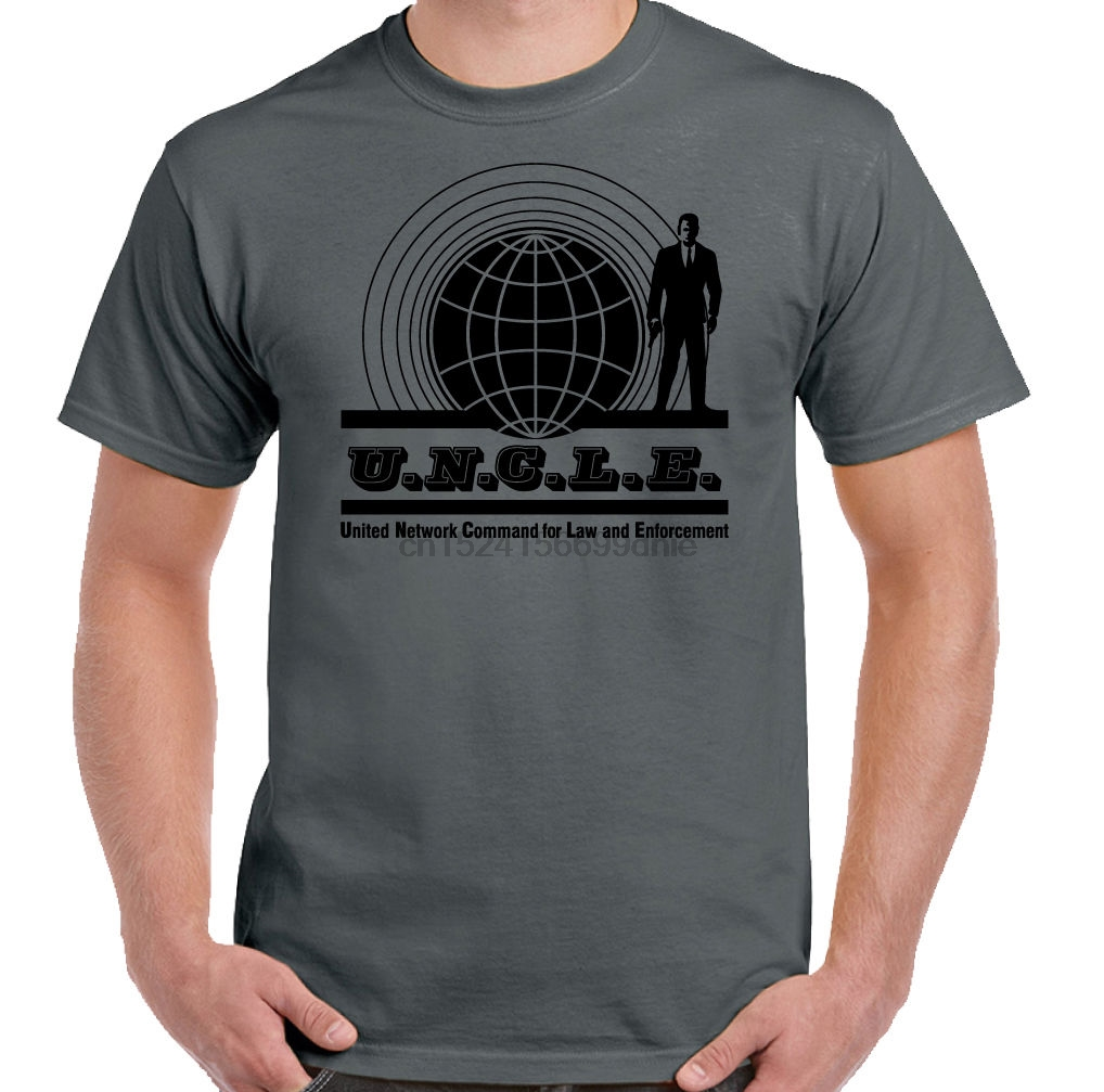 The Man From Uncle Mens Retro TV Show T-Shirt David McCallum From NCIS