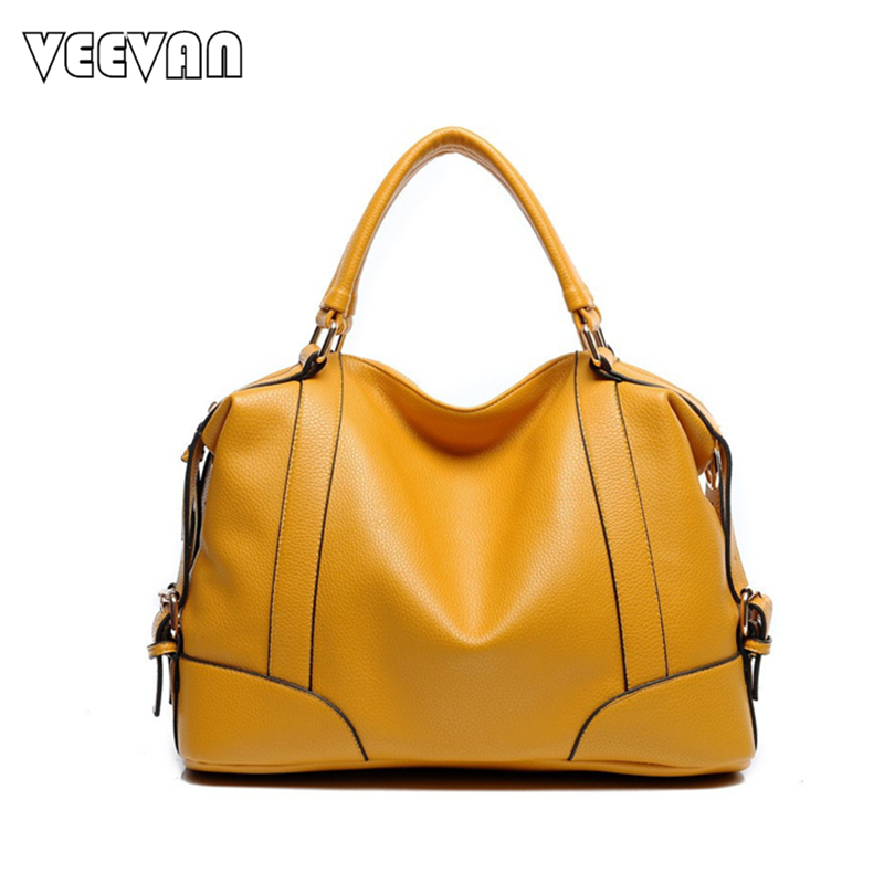 2017 VEEVANV Trend Boston Women Handbag 6 color Leather Ladies Tote Bag Casual Shoulder Bag Female Elegant Handbag Famous Brands