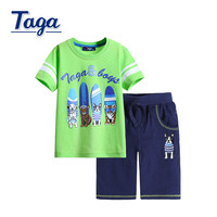 TAGA 2016 Hot Sale Summer Kids Boys T Shirt Pants Set Children Short Sleeve Shirt Boys