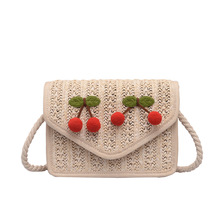 Hand-woven Candy Color Women Straw Bag Ladies Small Shoulder Bags Bohemia Beach Bag Crossbody Bags Messenger Handbag Tote