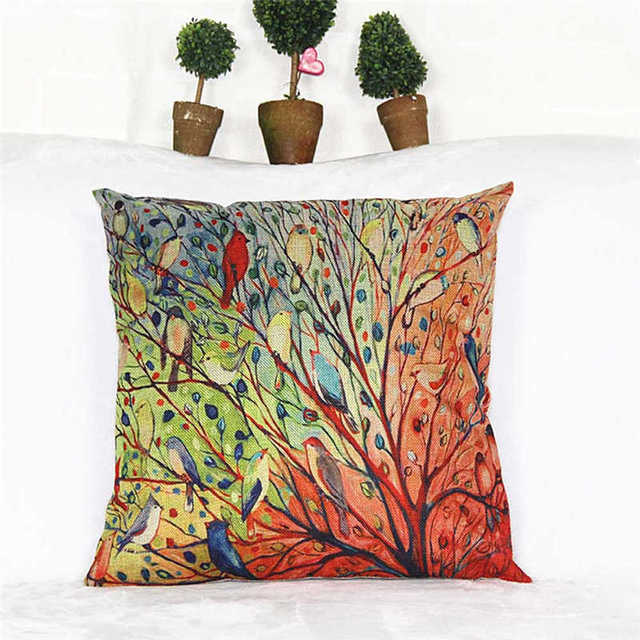 Novel Plant Printed Pattern Pillowcases Cover Super fabric Home  Bed  Decorative Throw Bedding Pillow Case