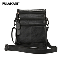 FULAIKATE 6 Genuine Leather Shoulder Strap Bag for Samsung Galaxy Note8 S8 Plus Case Pouch for iPhone 7 8 Plus Universal Bag