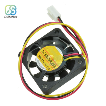 12V Mini Computer Fans CPU System Heatsink Brushless Cooling Fan Cooler 40mm x 10mm 3-pin image