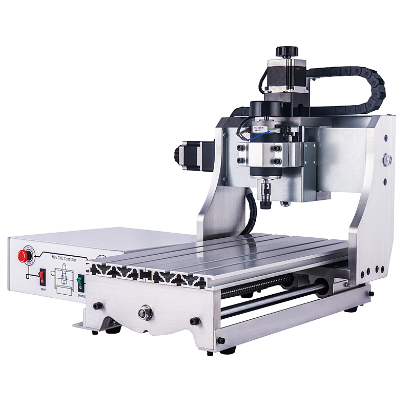 Hard aluminum CNC 3020 3 axis engraving machine with 300W spindle and LPT portHard aluminum CNC 3020 3 axis engraving machine with 300W spindle and LPT port