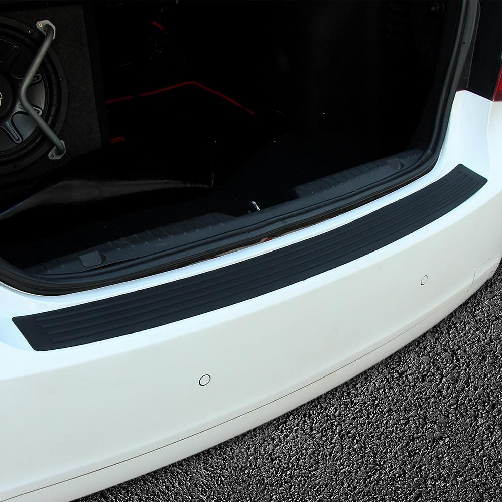 Car Bumper Guard >> Rubber Rear Guard Bumper Protector Trim cover Accessories For Ford Focus 2 3 4 Fiesta Mondeo ...
