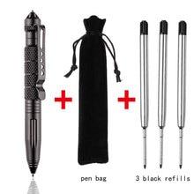 גבוהה באיכות הגנתי טקטי עט הגנה עצמית עט רב התעופה אלומיניום סגסוגת החלקה נייד קמפינג כדור עט