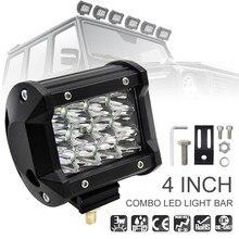 Lumière de voiture 4 pouces 36W 5500LM DC 10 ~ 48 V modifiée avec trois rangées de barres lumineuses pour voiture tout-terrain/pick-up/Wagon