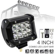 4 Polegada 36 w 5500LM Top DIODO EMISSOR de Luz Do Carro Modificado com Três Linhas de Barras de luz para o Carro Off-road /Pickup/Wagon