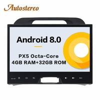 Autostereo Android 8 4+32G Car DVD Player GPS navigation For KIA SPORTAGE 2010 2012 head unit multimedia player tape recorder