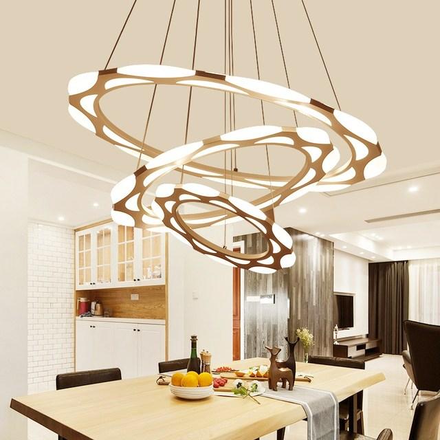 led ring pendant lamp creative art led restaurant light fitting ring