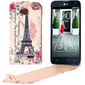 for LG L70 / Dual D325 Flower and Butterfly Patterns Vertical Flip Leather Case for LG L70 / Dual D325