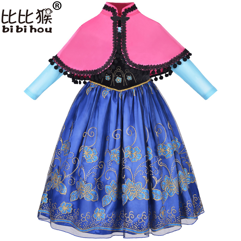 flower girl dresses Clothes Baby Girls Christmas Dress elsa fancy costume for kids princess sofia dress cosplay carnival costume children anna elsa princess birthday dresses cosplay party fancy costume with cape christmas dress child blue red clothes kids