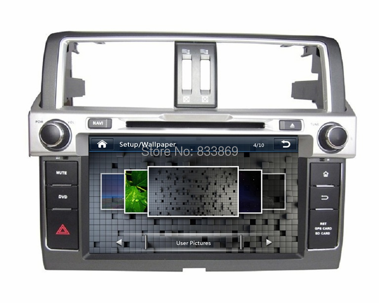 HD 2 din 8″ Car DVD GPS Navigation for Toyota Prado 2014 With USB Bluetooth IPOD TV Radio/ RDS USB SWC AUX IN