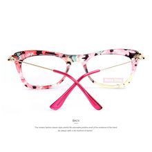 MERRY'S Fashion Women Cat's Eye Glasses Frames Print Frame Cat Eye Glasses Women Eyeglasses Frames  Metallic Legs 4Color