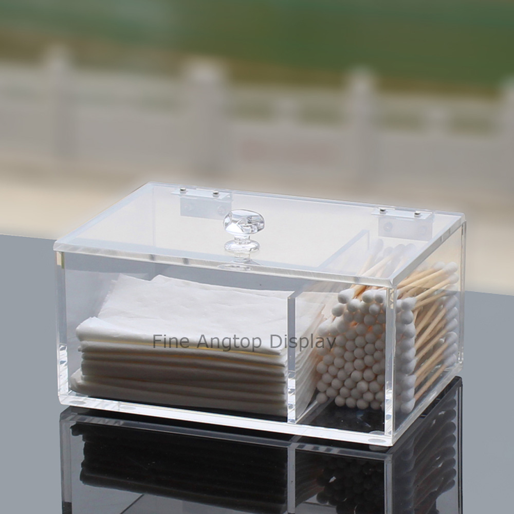 1pcs Acrylic Cotton Swab Dispenser Cosmetics Container Box Jewelry Storage Case Organizer Holder various make ups cosmetics acrylic plastic organizer holder transparent