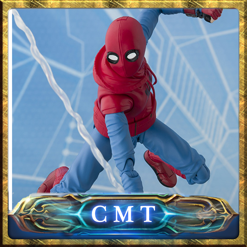 CMT Original Bandai Tamashii Nations Marvel Comics S.H.Figuarts SHF Spider Man (Homecoming) Home Maid Suit Ver Aaction Figure 100% original bandai tamashii nations s h figuarts shf action figure spider man homecoming